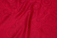 Red polyester jacquard for duge mm.