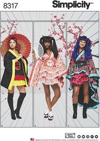 Cosplay Kimono Costumes. Simplicity 8317.