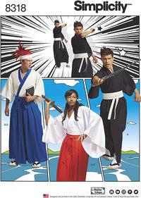 Teen´s Kimono Costumes. Simplicity 8318.