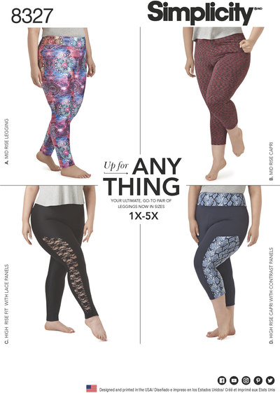 Knit Leggings with Length Variations