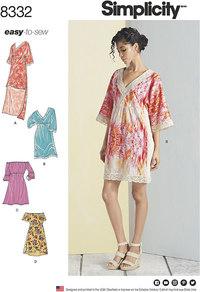 Dresses. Simplicity 8332.