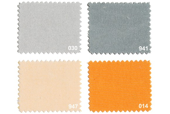 Texgard coated fabric for awnings, grey-orange nuances