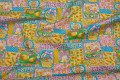 Patchwrok cotton fabric with easter pattern in fresh colors.