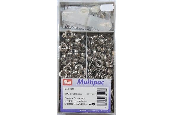 Silver rings 8 mm, bulk box 200 pcs