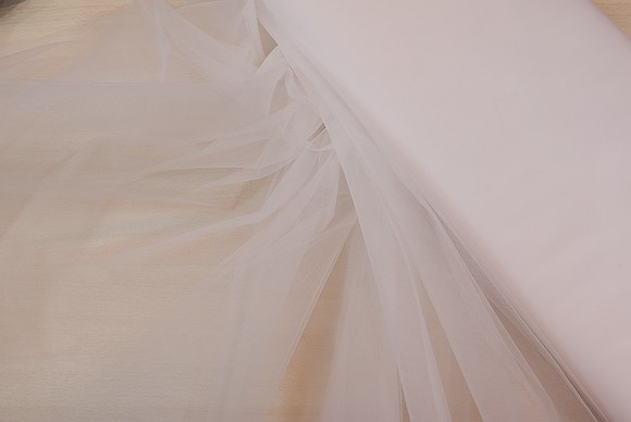 Bridal tulle in white