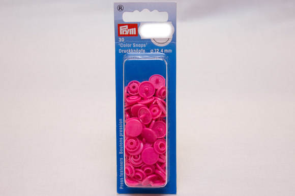 Pink plastic press fasteners ø 12.4 mm