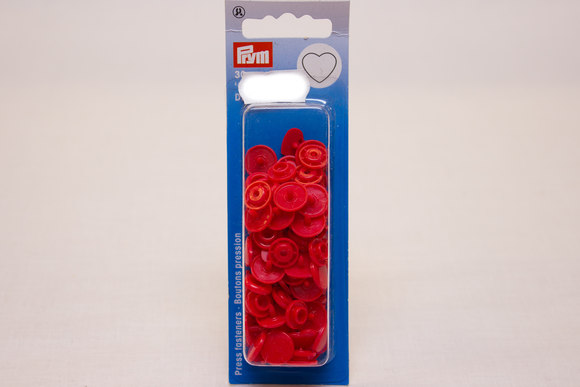 Red plastic press fasteners ø 12.4 mm