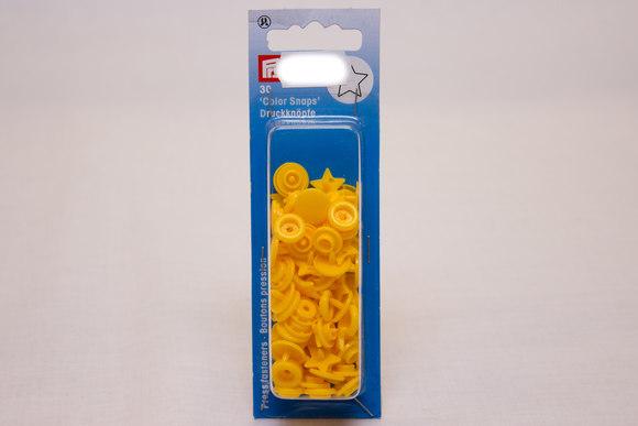 Yellow plastic press fasteners ø 12.4 mm