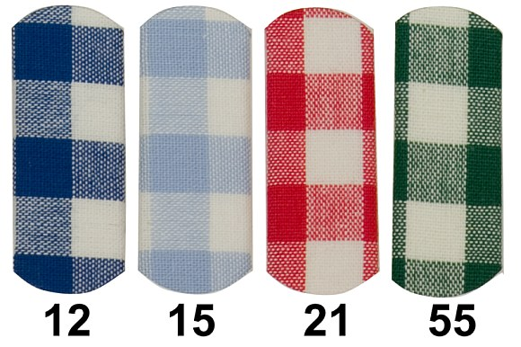 Kitchen checkered cotton 10 mm checks in blue, light blue, red and green
