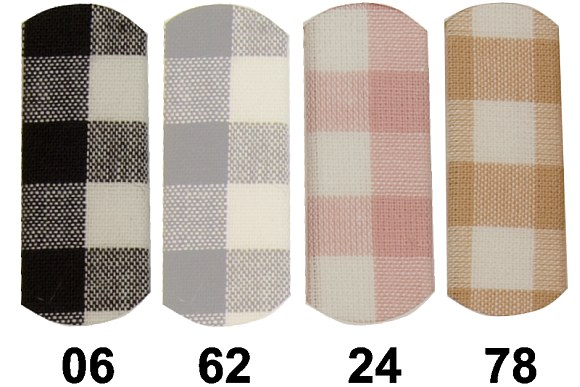 Kitchen checkered cotton 10 mm checks in black, grey, soft-red, beige