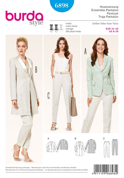 Pantsuit, Jacket with shawl collar