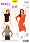 Burda 6910. Shirt, Dress, raglan sleeves.