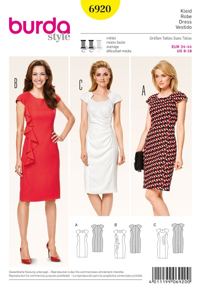 Dress, dropped shoulders