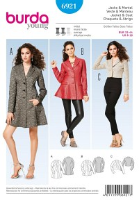 Burda pattern: Coat, Jacket, Short Jacket
