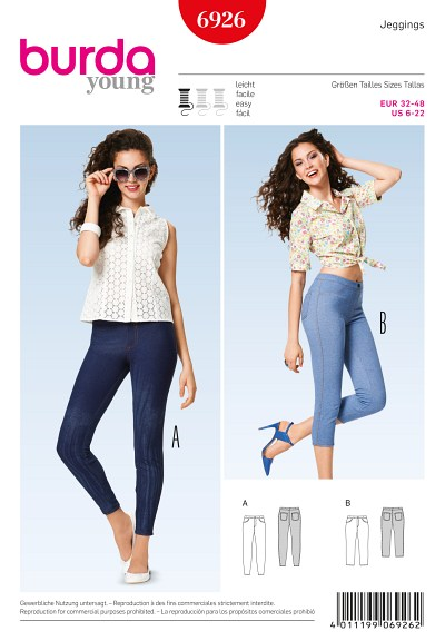 Leggings, jeans optics