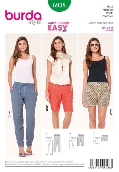 Pants with elastic casing, Bermuda Shorts, Shorts