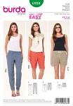 Burda 6938. Pants with elastic casing, Bermuda Shorts, Shorts.