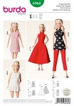 Sure you will score with these garments, dolls moms will love them! AB: either chic from lace fabrics or sporty with pleated skirt. Dress C and shirt D with striking halter-neck closure. E: slender pants matching shirt D. All pieces are easy to put on and take off.