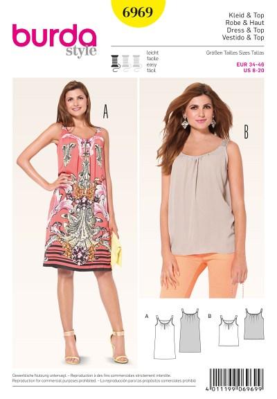Pinafore Dress, Strap Top