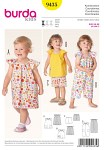 Sack dresses, top and jumpsuit, cute and airy outfits for little girls to feel most at ease in summer. With banded neck, wing sleeves and rearward buttoning. The casual shorts with elasticated waistband are perfectly matching the top.
