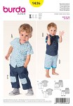 Airy summer outfits for little boys. The short-sleeved shirt with yoke can be adorned with ribbed bands, if you like. Matching super comfortable pants with patch pockets and rib knit waistband. Just choose one of the two different variants!.