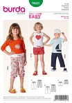 Burda 9441. Pants, Shorts, ribbed waistband.