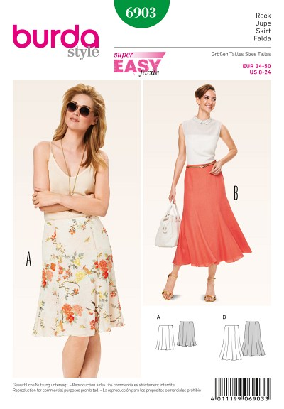 Gored Skirt with softly flowing hem