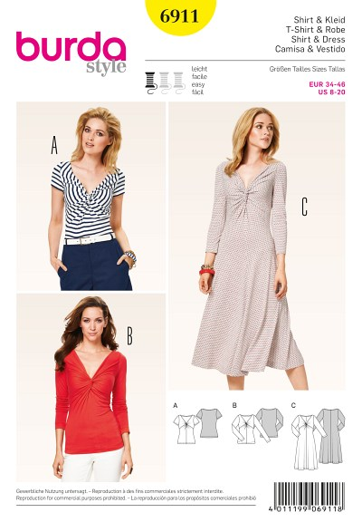 Shirt, Dress, entwined fronts