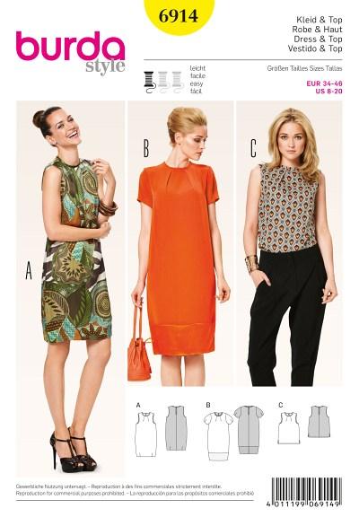 Three-quarter-length dress and top