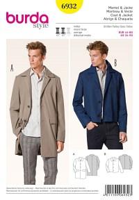 Coat, Jacket, classic design. Burda 6932.