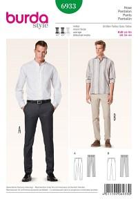 Men´s trousers, slender cut. Burda 6933.