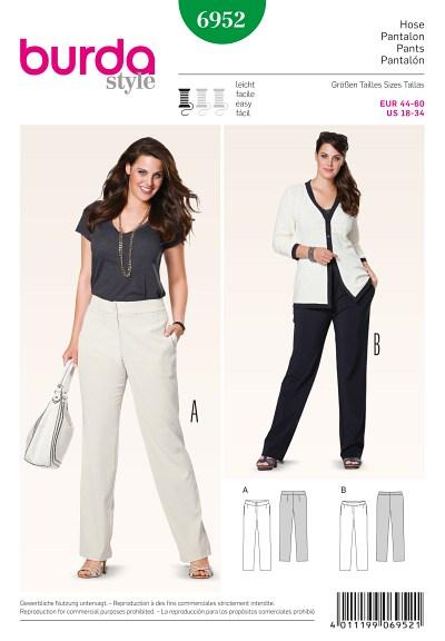 Pants, shaped waistband or elasticated waistband