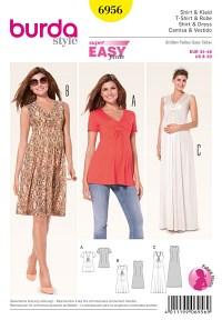 Maternity wear, Dress, Shirt. Burda 6956.