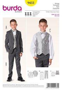 Boy´s Suit with Vest. Burda 9433.