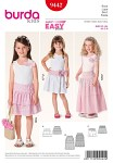 Burda 9442. Skirt, Tiered Skirt- elastic casing.