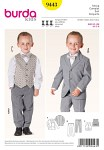 Burda 9443. Suit with Vest.