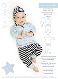 Baby combo with hat. Minikrea 11410.