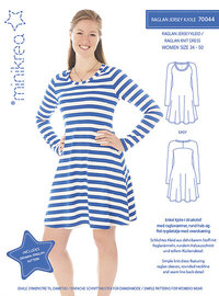 Raglan jersey dress. Minikrea 70044.
