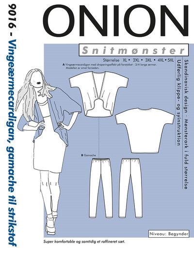 Wing-sleeve-cardigan, leggings