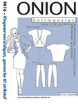 Onion 9016. Wing-sleeve-cardigan, leggings.
