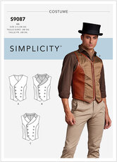 Vest, 1900s vest, costume. Simplicity 9087.