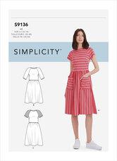 Dress. Simplicity 9136.