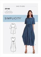 Relaxed Pullover Dress. Simplicity 9140.