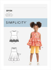 Childrens Dress, Top, Tunic and Leggings. Simplicity 9154.