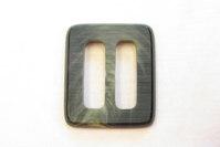 Belt buckle green, 2.5 cm