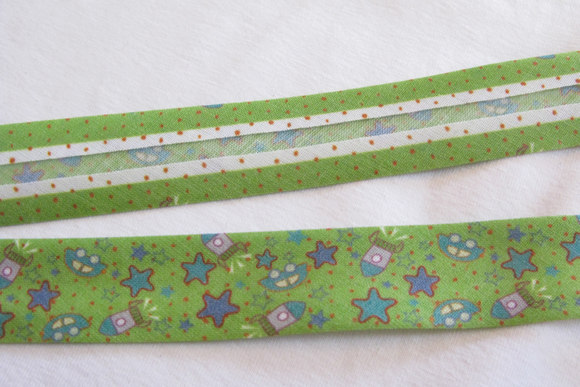 Bias tape, rackets, cars and stars, 2 cm