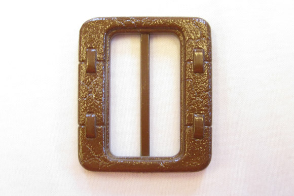 Brown belt buckle, 4 and 5 cm