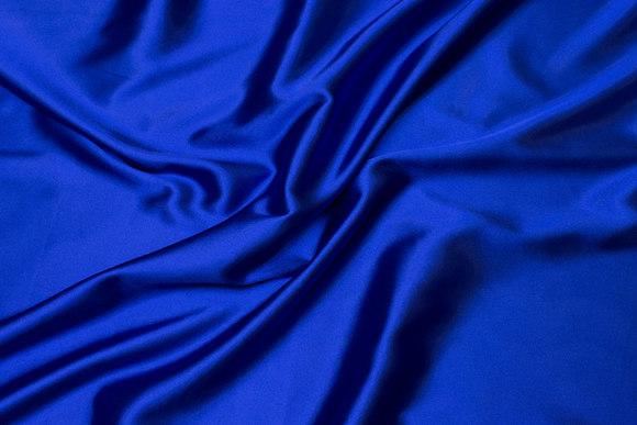Cobolt-blue stretch-satin
