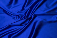 Cobolt-blue stretch-satin