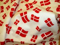 Danish flags on cotton